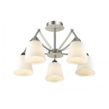 Потолочная люстра Lumion Hadrinna 3449/5C, 5xE14x60W, хром, белый, металл, стекло - миниатюра 1
