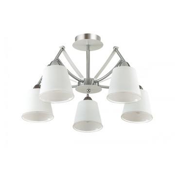 Потолочная люстра Lumion Hadrinna 3449/5C, 5xE14x60W, хром, белый, металл, стекло - миниатюра 2