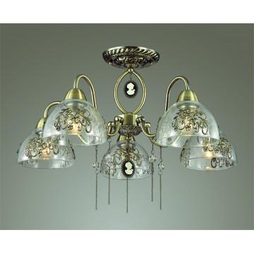 Lumion Absolona 3452/5C, 5xE27x60W, металл, стекло - миниатюра 3