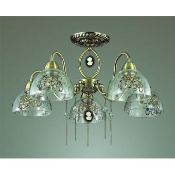 Lumion Absolona 3452/5C, 5xE27x60W, металл, стекло - миниатюра 4