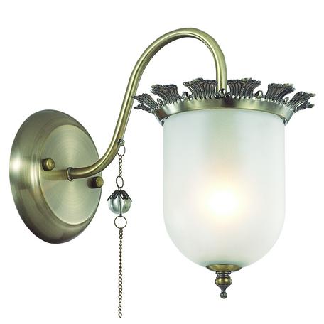 Бра Lumion Denissa 3456/1W, 1xE14x40W, бронза, матовый, прозрачный, металл, стекло
