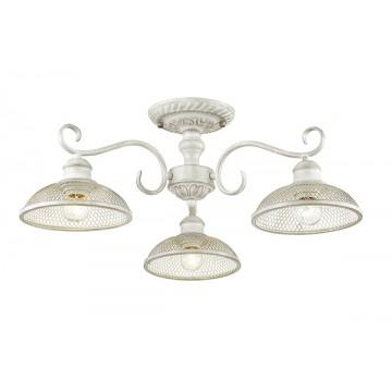 Потолочная люстра Lumion Zerome 3473/3C, 3xE27x40W, белый с золотой патиной, металл