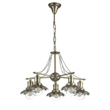 Подвесная люстра Lumion Adelarda 3468/5, 5xE14x40W, бронза, прозрачный, металл, стекло - миниатюра 2