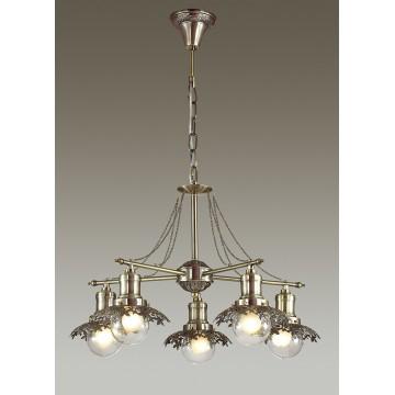 Подвесная люстра Lumion Adelarda 3468/5, 5xE14x40W, бронза, прозрачный, металл, стекло - миниатюра 3
