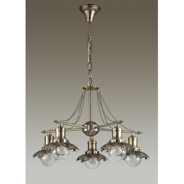 Подвесная люстра Lumion Adelarda 3468/5, 5xE14x40W, бронза, прозрачный, металл, стекло - миниатюра 4