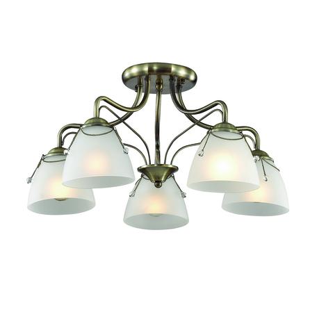Потолочная люстра Lumion Debora 3146/5C, 5xE14x60W, бронза, прозрачный, металл, стекло