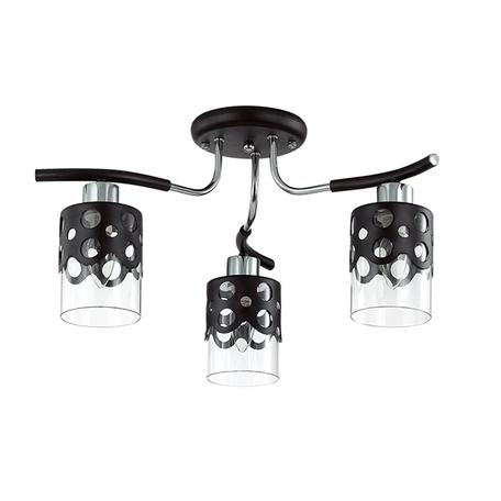 Потолочная люстра Lumion Colett 3272/3C, 3xE14x60W, венге, хром, прозрачный, металл, стекло