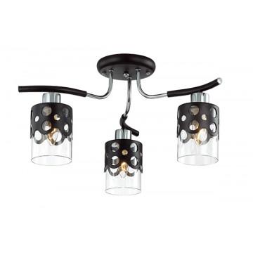 Потолочная люстра Lumion Colett 3272/3C, 3xE14x60W, венге, хром, прозрачный, металл, стекло - миниатюра 2