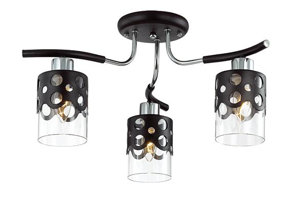 Потолочная люстра Lumion Colett 3272/3C, 3xE14x60W, венге, хром, прозрачный, металл, стекло - фото 2