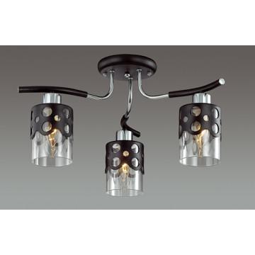 Потолочная люстра Lumion Colett 3272/3C, 3xE14x60W, венге, хром, прозрачный, металл, стекло - миниатюра 3