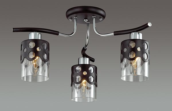Потолочная люстра Lumion Colett 3272/3C, 3xE14x60W, венге, хром, прозрачный, металл, стекло - фото 3