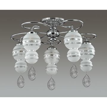 Потолочная люстра Lumion Piretta 3274/5C, 5xE14x60W, хром, матовый, прозрачный, металл, стекло - миниатюра 4