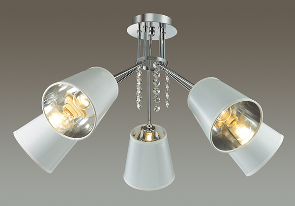 Потолочная люстра Lumion Zulienna 3314/5C, 5xE14x40W, хром, белый, прозрачный, металл, пластик, хрусталь - фото 3