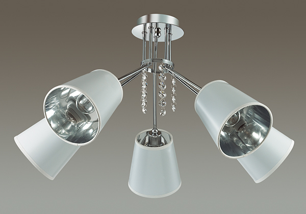 Потолочная люстра Lumion Zulienna 3314/5C, 5xE14x40W, хром, белый, прозрачный, металл, пластик, хрусталь - фото 4