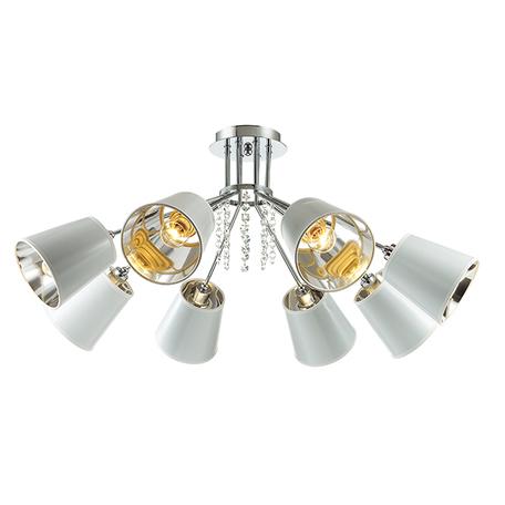 Потолочная люстра Lumion Zulienna 3314/8C, 8xE14x40W, хром, белый, прозрачный, металл, пластик, хрусталь - миниатюра 1