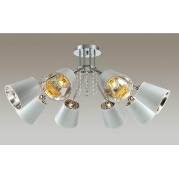 Потолочная люстра Lumion Zulienna 3314/8C, 8xE14x40W, хром, белый, прозрачный, металл, пластик, хрусталь - миниатюра 3