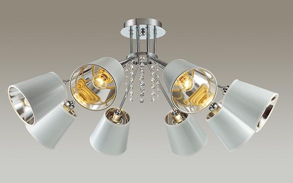 Потолочная люстра Lumion Zulienna 3314/8C, 8xE14x40W, хром, белый, прозрачный, металл, пластик, хрусталь - фото 3