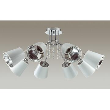 Потолочная люстра Lumion Zulienna 3314/8C, 8xE14x40W, хром, белый, прозрачный, металл, пластик, хрусталь - миниатюра 4