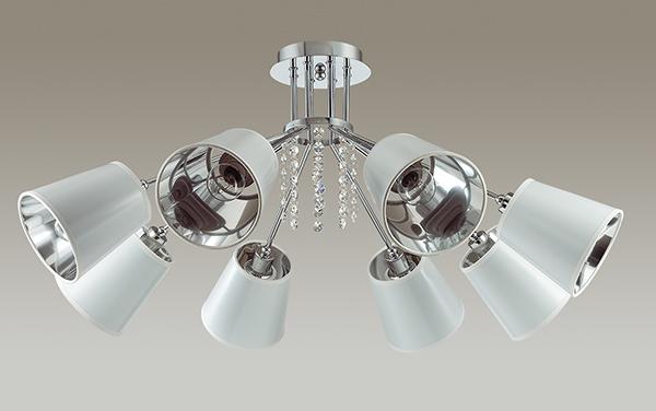 Потолочная люстра Lumion Zulienna 3314/8C, 8xE14x40W, хром, белый, прозрачный, металл, пластик, хрусталь - фото 4
