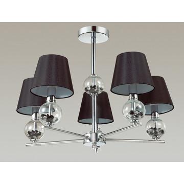 Потолочная люстра Lumion Franketta 3416/5, 5xE14x40W, прозрачный, хром, коричневый, металл, стекло, текстиль - миниатюра 4