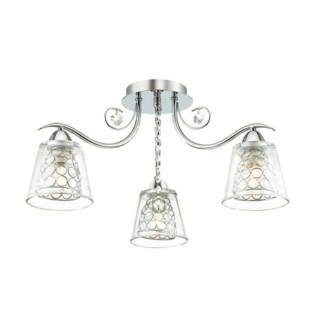 Потолочная люстра Lumion Polina 3445/3C, 3xE14x60W, хром, прозрачный, металл, стекло, хрусталь