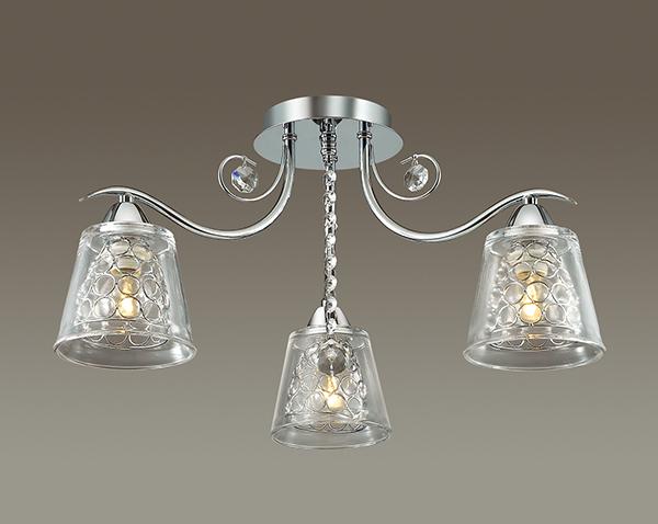 Потолочная люстра Lumion Polina 3445/3C, 3xE14x60W, хром, прозрачный, металл, стекло, хрусталь - фото 3