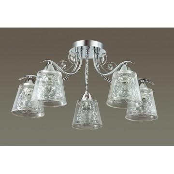 Потолочная люстра Lumion Polina 3445/5C, 5xE14x60W, хром, прозрачный, металл, стекло, хрусталь - миниатюра 4