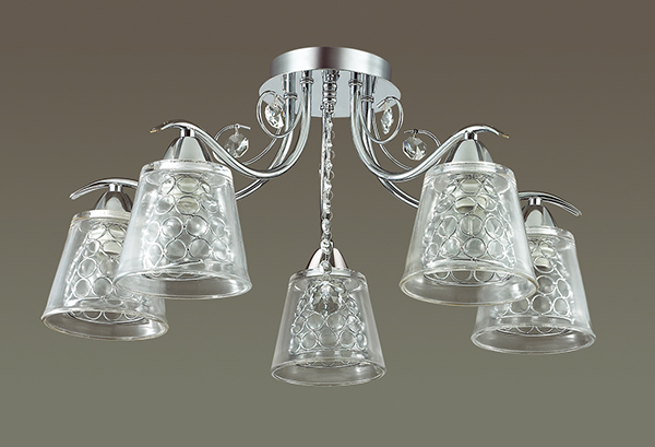 Потолочная люстра Lumion Polina 3445/5C, 5xE14x60W, хром, прозрачный, металл, стекло, хрусталь - фото 4
