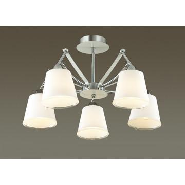 Потолочная люстра Lumion Hadrinna 3449/5C, 5xE14x60W, хром, белый, металл, стекло - миниатюра 3