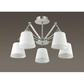 Потолочная люстра Lumion Hadrinna 3449/5C, 5xE14x60W, хром, белый, металл, стекло - миниатюра 4