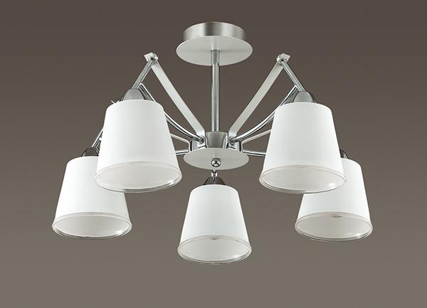 Потолочная люстра Lumion Hadrinna 3449/5C, 5xE14x60W, хром, белый, металл, стекло - фото 4