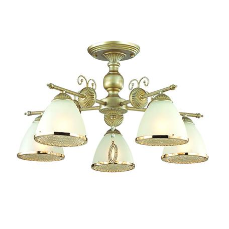 Потолочная люстра Lumion Gaspardo 3455/5C, 5xE14x40W, матовое золото, золото, матовый, металл, стекло