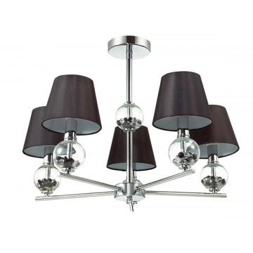 Потолочная люстра Lumion Franketta 3416/5, 5xE14x40W, прозрачный, хром, коричневый, металл, стекло, текстиль - миниатюра 2