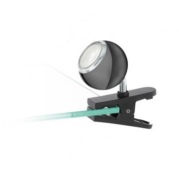 Светильник на прищепке Eglo Bimeda 96838, 1xGU10x3,3W, хром, черный, металл, пластик