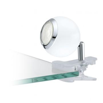Светильник на прищепке Eglo Bimeda 96839, 1xGU10x3,3W, белый, хром, металл, пластик