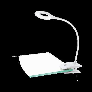 Светодиодный светильник на прищепке Eglo Cabado 97077, LED 3W 3000K 80lm, белый, пластик