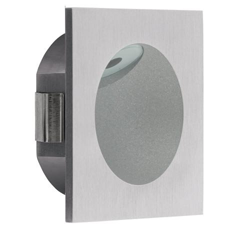 Встраиваемый настенный светодиодный светильник Eglo Zarate 96902, LED 2W 3000K 200lm, серебро, металл, пластик