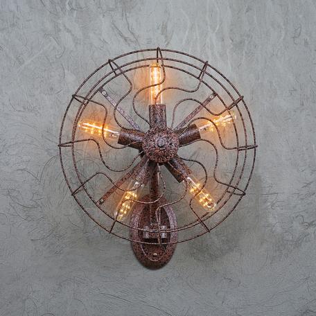 Настенный светильник Loft It Blowhole LOFT1836W, 5xE27x60W, коричневый, металл