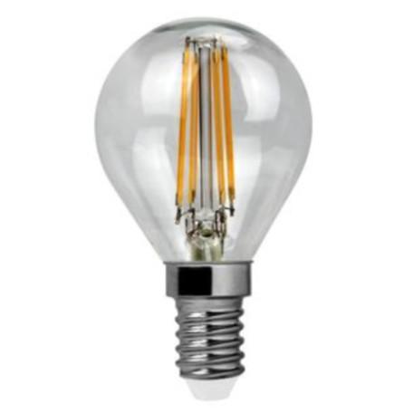 Филаментная светодиодная лампа Voltega Crystal 4676 шар малый E14 4W, 4000K 220-240V, гарантия 3 года