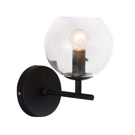 Бра Favourite Schoppen 1491-1W, 1xE14x40W, черный, прозрачный, металл, стекло - миниатюра 1