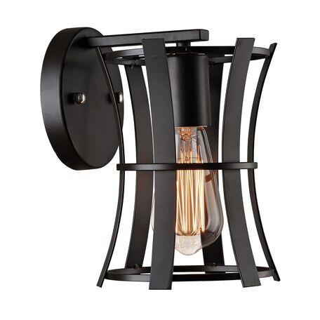 Бра Favourite Werk 1521-1W, 1xE27x40W, черный, металл