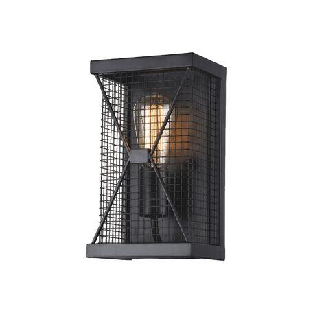 Настенный светильник Favourite Mesh 1784-1W, 1xE27x60W, черный, металл