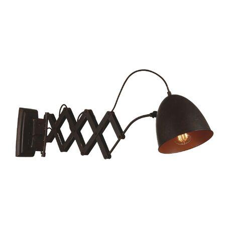 Настенный светильник с регулировкой направления света Favourite Bellows 1761-1W, 1xE27x60W, коричневый, металл