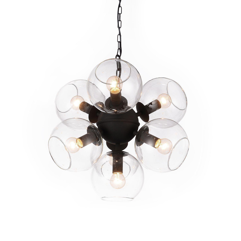 Подвесная люстра Favourite Schoppen 1491-7P, 7xE14x40W, черный, прозрачный, металл, стекло - фото 1
