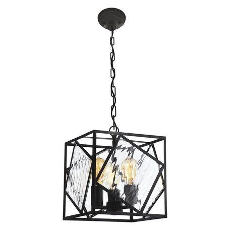 Подвесная люстра Favourite Brook 1785-3P, 3xE27x60W, черный, прозрачный, металл, металл со стеклом, ковка - миниатюра 1