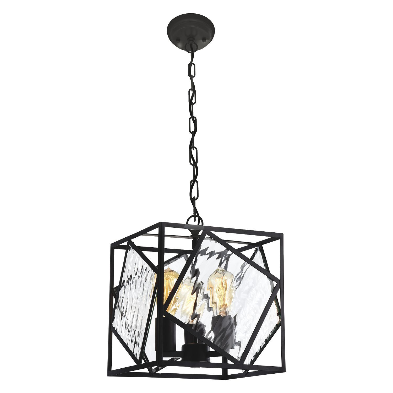 Подвесная люстра Favourite Brook 1785-3P, 3xE27x60W, черный, прозрачный, металл, металл со стеклом, ковка - фото 1