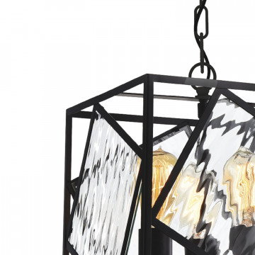 Подвесная люстра Favourite Brook 1785-3P, 3xE27x60W, черный, прозрачный, металл, металл со стеклом, ковка - миниатюра 6