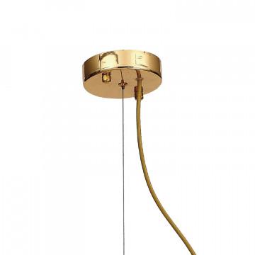 Подвесная люстра Favourite Birra 1860-6P, 6xE14x40W, золото, коньячный, бежевый, стекло, текстиль - миниатюра 2