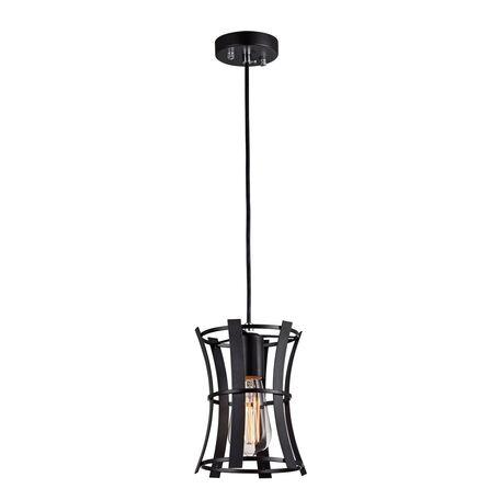 Подвесной светильник Favourite Werk 1521-1P, 1xE27x40W, черный, металл, ковка