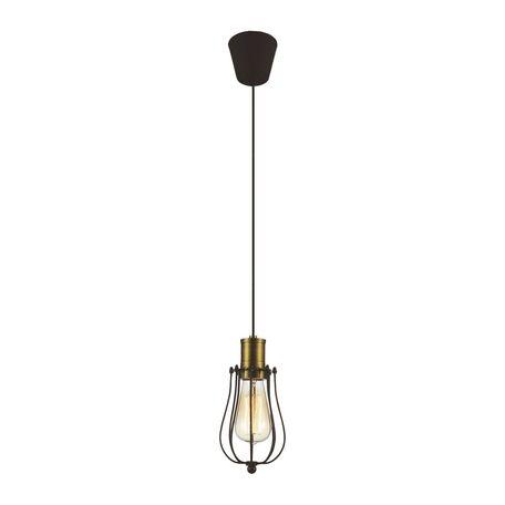 Подвесной светильник Favourite Dock 1590-1P, 1xE27x40W, бронза, коричневый, металл
